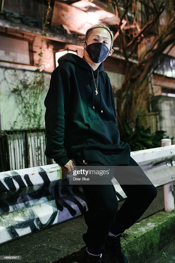 Japanese man poses for camera : Stock Photo