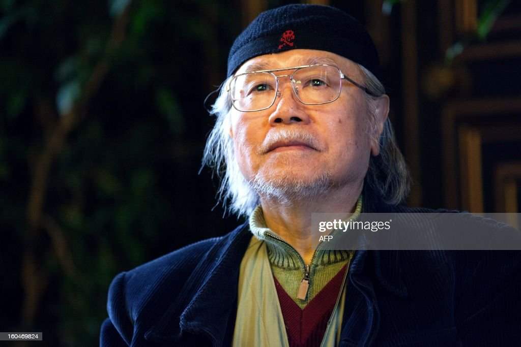Japanese mangaka Leiji Matsumoto is pictured on February 1, 2013 during the 40th Festival International de la Bande Dessinée (Angoulene's international comic books festival) in Angouleme, western France. Matsumoto, famous for his series Captain Harlock and Galaxy Express 999, celebrate his 60 years of carreer as the festival's guest of honour today.