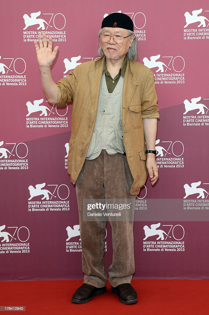 Japanese mangaka/author Leiji Matsumoto attends 'Harlock: Space Pirate' Photocall during the 70th Venice International Film Festival at Palazzo del Casino on September 3, 2013 in Venice, Italy.