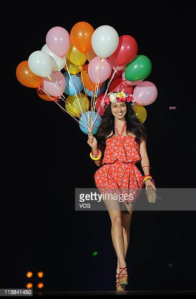 Japanese model Hasegawa Jun walks the runway at the TGC Girls Collection 2011 at MasterCard Center on May 7 2011 in Beijing China