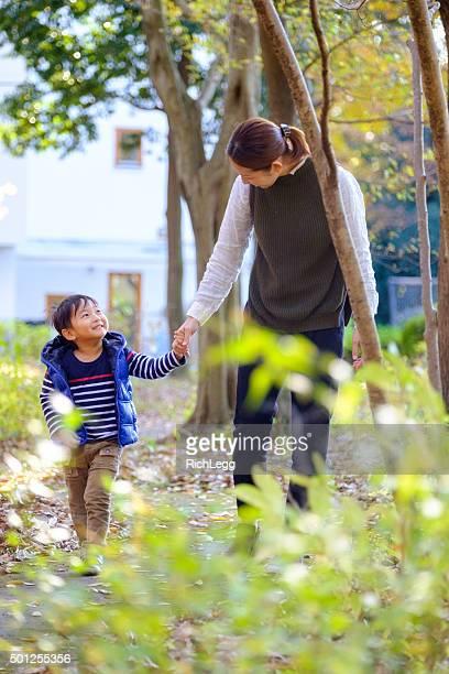 日本の母と子の公園