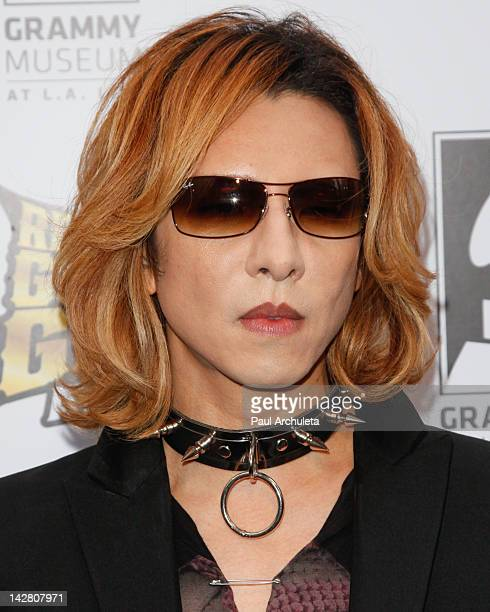 Japanese Musician Yoshiki of the Rock Band XJapan attends the 4th Annual Revolver Golden God Awards at Club Nokia on April 11 2012 in Los Angeles...