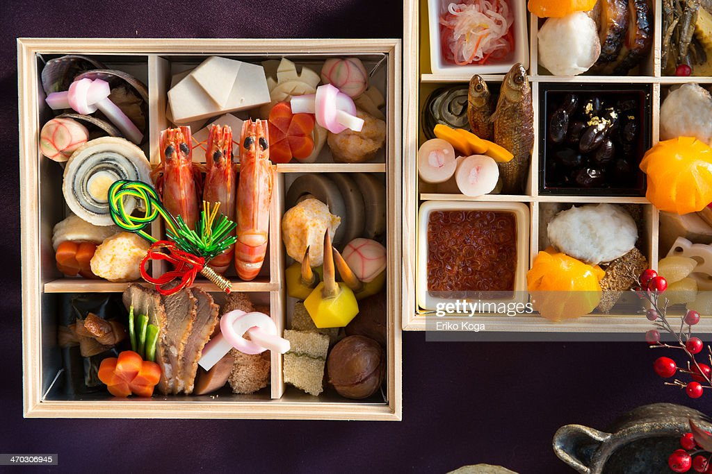 Japanese New year dishes and Sake