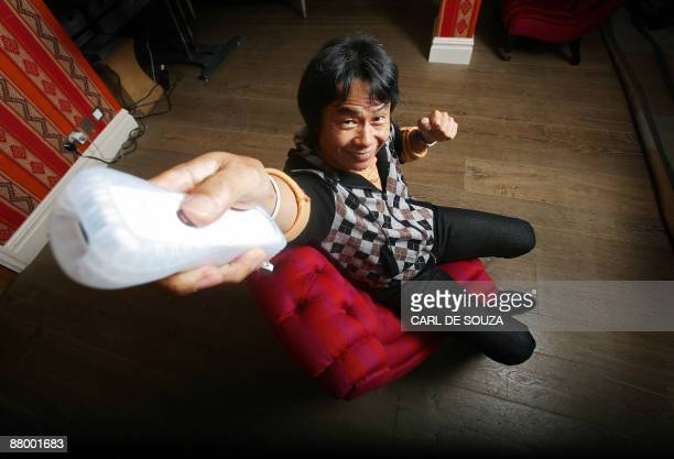Japanese Ninento artist and game designer Shigeru Miyamoto is pictured in London on October 21 2008 Japan's Shigeru Miyamoto is the creator of Donkey...