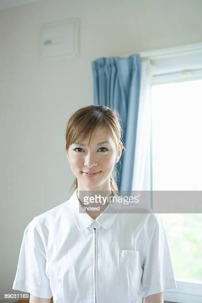 Japanese nurse smiling, portrait