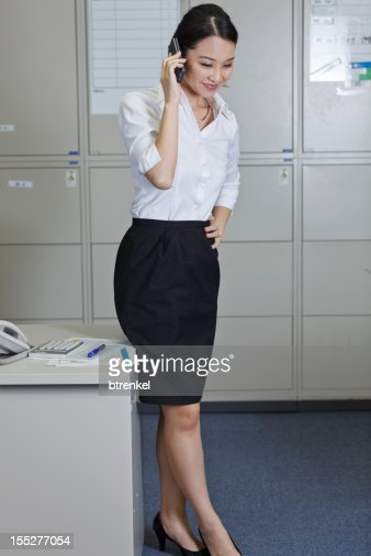 Japanese Office Lady Stock Photo Getty Images
