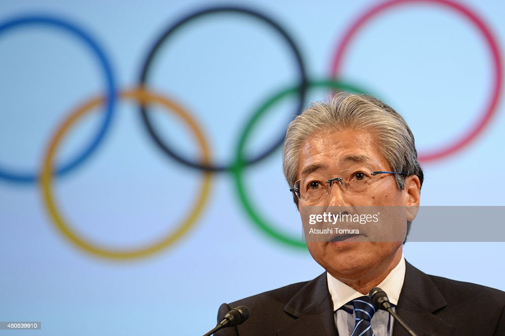 Japanese Olympic Comitee President <a gi-track='captionPersonalityLinkClicked' href=/galleries/search?phrase=Tsunekazu+Takeda&family=editorial&specificpeople=2574573 ng-click='$event.stopPropagation()'>Tsunekazu Takeda</a> attends a news conference to announce the partnership between Bridgestone Corporation and the International Olympic Committee on June 13, 2014 in Tokyo, Japan. Bridgestone has joined the 11 top-ranked worldwide sponsors under the The Olympic Partner program.