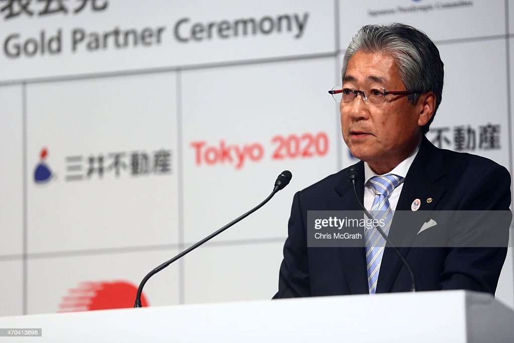 Japanese Olympic Comitee President <a gi-track='captionPersonalityLinkClicked' href=/galleries/search?phrase=Tsunekazu+Takeda&family=editorial&specificpeople=2574573 ng-click='$event.stopPropagation()'>Tsunekazu Takeda</a> speaks to the media during a press conference held at the Mandarin Oriental on April 20, 2015 in Tokyo, Japan. Mitsui Fudosan Co., Ltd. signed on to become a gold partner sponsor of the Tokyo 2020 Olympics.