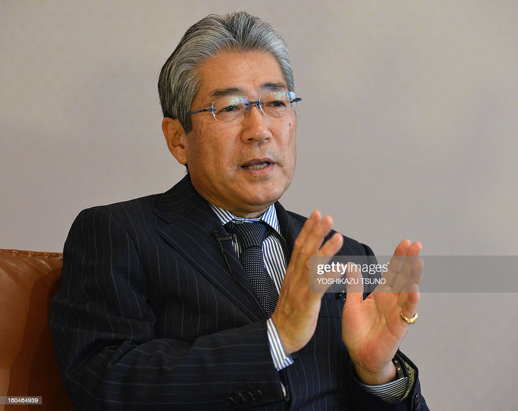 Japanese Olympic Committe (JOC) president Tsunekazu Takeda speaks to an AFP reporter at an interview in Tokyo on February 1, 2013. Tsunekazu Takeda vowed on February 1 to stamp out the physical abuse of athletes by coaches after claims female judokas were beaten with bamboo swords threatened to cast a cloud over Tokyo's bid to host the 2020 Games. AFP PHOTO / Yoshikazu TSUNO