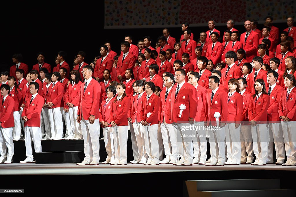 japanese-olympic-team-attends-the-sendoff-event-for-the-japanese-picture-id544305626