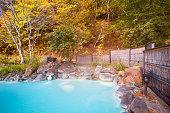 Japanese open air hot spring (onsen) at Japan