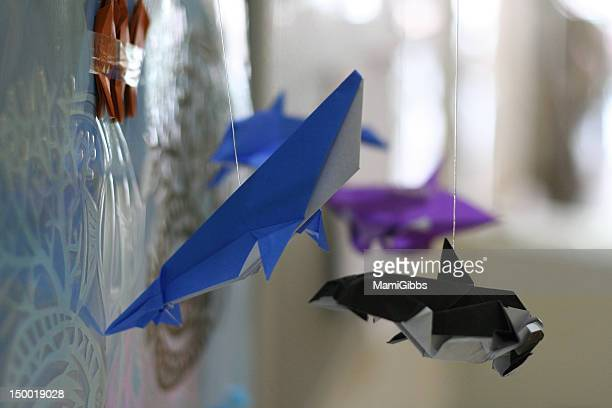Japanese paper art origami fish