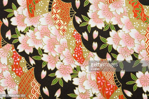 Japanese paper with cherry blossom pattern (full frame)