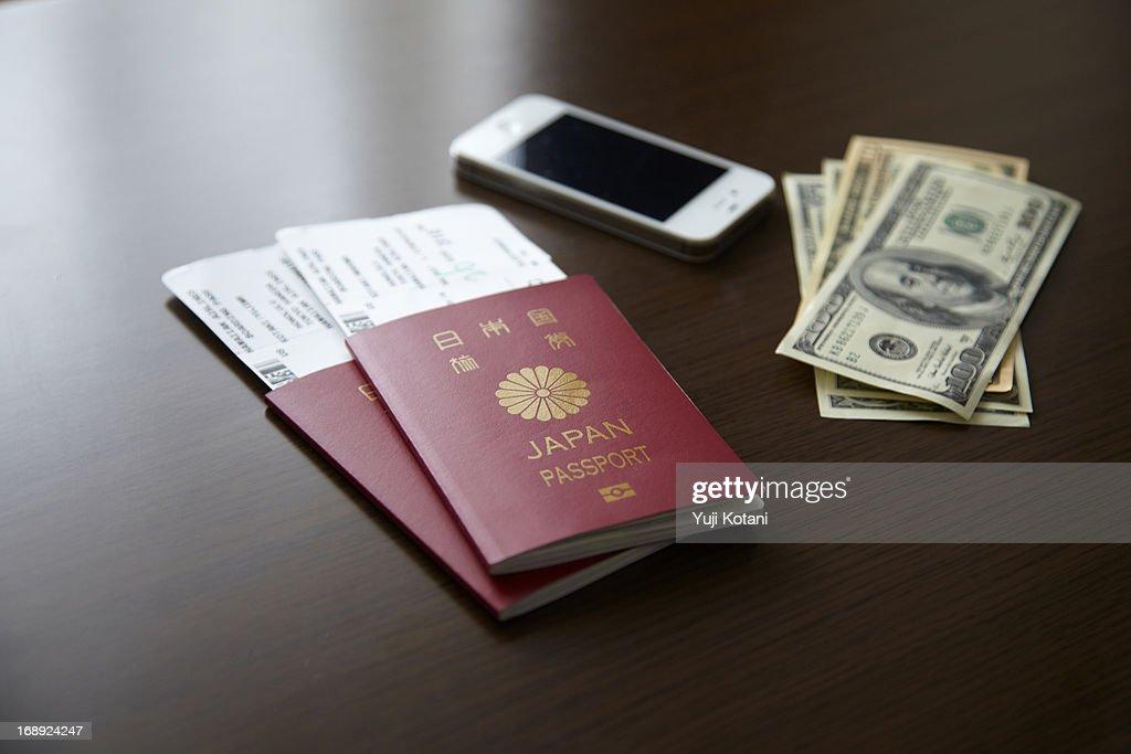 Japanese passport : Stock Photo