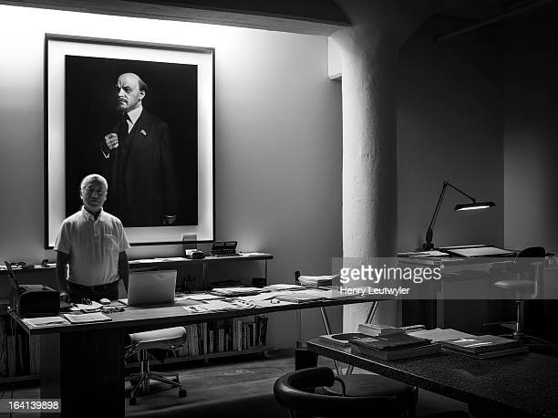 Japanese photographer Hiroshi Sugimoto is photographed for Madame Figaro Magazine on December 14 in New York City