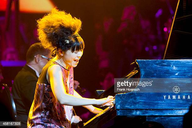 Japanese pianist Hiromi performs live during The AIDA Night Of The Proms at the O2 World on December 19 2013 in Berlin Germany