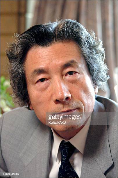Japanese Prime Minister Junichiro Koizumi At Prime Minister Official Residence In Tokyo Japan On March 28 2002