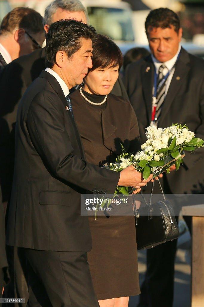 Japanese Prime Minister Shinzo Abe Visits New Zealand