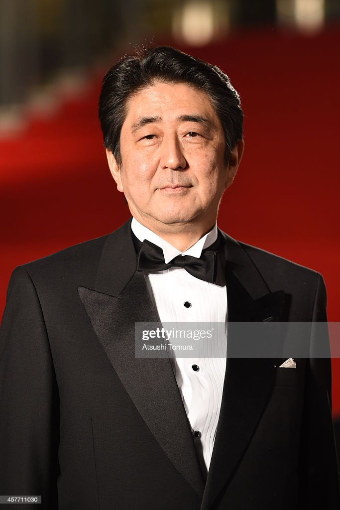 Japanese Prime Minister <a gi-track='captionPersonalityLinkClicked' href=/galleries/search?phrase=Shinzo+Abe&family=editorial&specificpeople=559017 ng-click='$event.stopPropagation()'>Shinzo Abe</a> arrives at the opening ceremony during the 27th Tokyo International Film Festival at Roppongi Hills on October 23, 2014 in Tokyo, Japan.