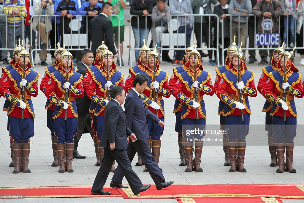 Japanese PM Abe Visits Mongolia - Day 1