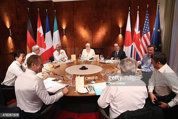 Japanese Prime Minister Shinzo Abe Canadian Prime Minister Stephen Harper US President Barack Obama German Chancellor Angela Merkel French President...