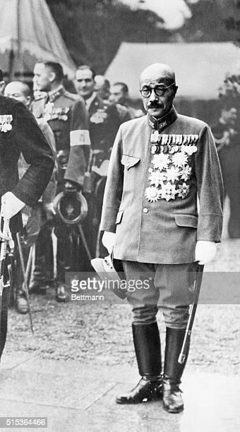 Japanese Prime Minister Tojo Hideki in full military dress