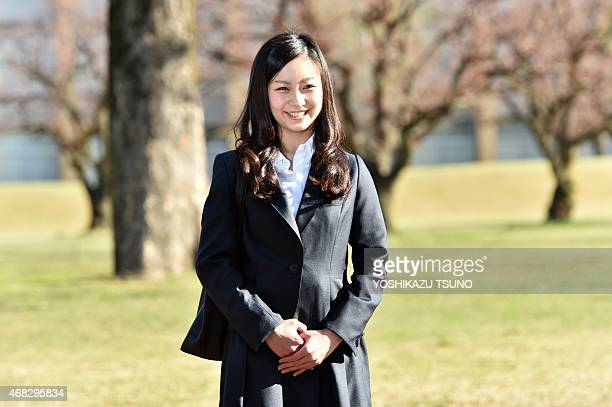 Japanese Princess Kako younger daughter of the Emperor's second son Prince Akishino arrives at the International Christian University campus for an...