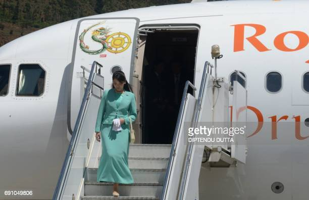 Japanese Princess Mako arrives at Paro International Airport in Paro on June 1 at the start of her nineday official visit to Bhutan Japanese Princess...