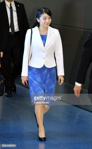 Japanese Princess Mako is pictured at Tokyo's Haneda airport in the early hours of Aug 19 before leaving for Hungary on a private trip The princess...