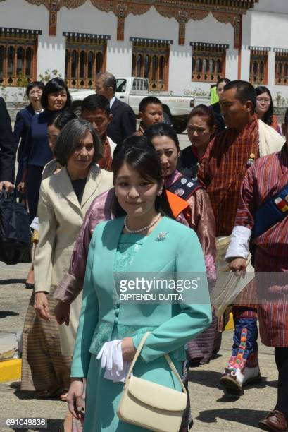Japanese Princess Mako is welcomed at Paro International Airport in Paro on June 1 at the start of her nineday official visit to Bhutan Japanese...
