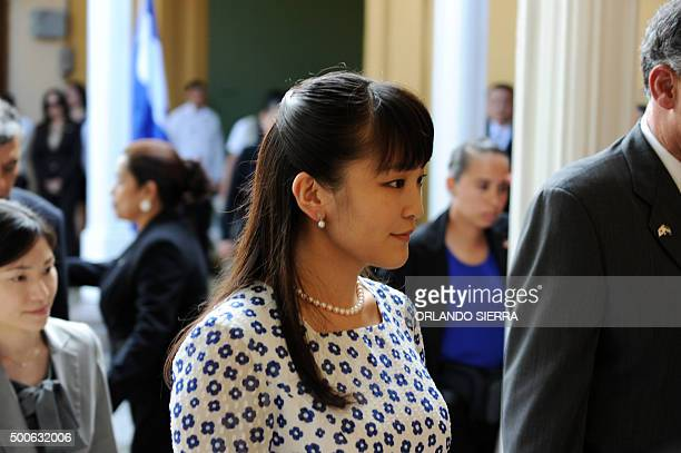Japanese Princess Mako visits the Museum of Man in Tegucigalpa on December 9 2015 AFP PHOTO/Orlando SIERRA / AFP / ORLANDO SIERRA