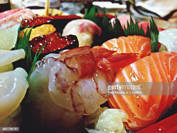 Japanese Raw Seafood On Platter