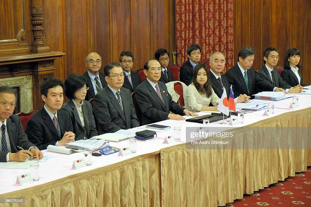 Japanese representatives attends a negotiation table on April 10, 2013 in Taipei, Taiwan. Japan made concessions to reach a basic agreement with Taiwan over fishing rights around the disputed Senkaku Islands on April 10, a deal that will likely rile China.