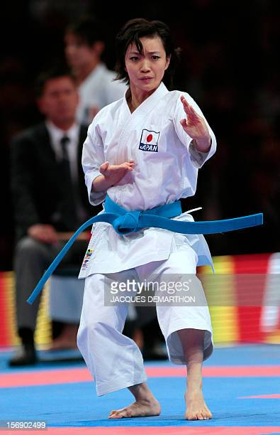 Japanese Rika Usami practices to win the women's Kata event at the Karate world championships on November 24 2012 in Paris AFP PHOTO/JACQUES DEMARTHON