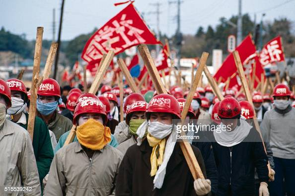Japanese riot police clashed today with militant leftist students protesting plans to build a Tokyo International Airport in this suburban town...