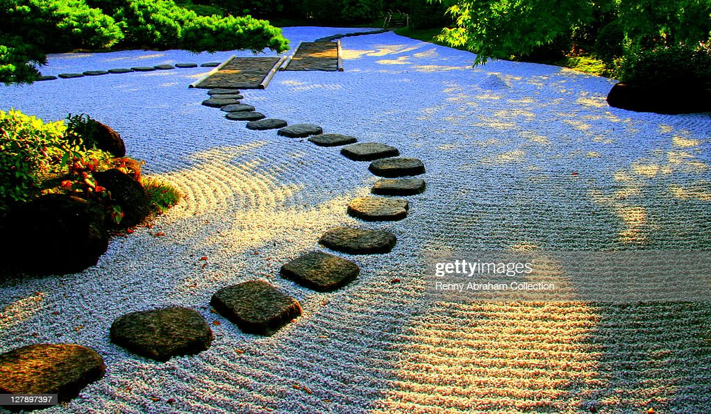 Japanese Rock Garden Stock Photo Getty Images