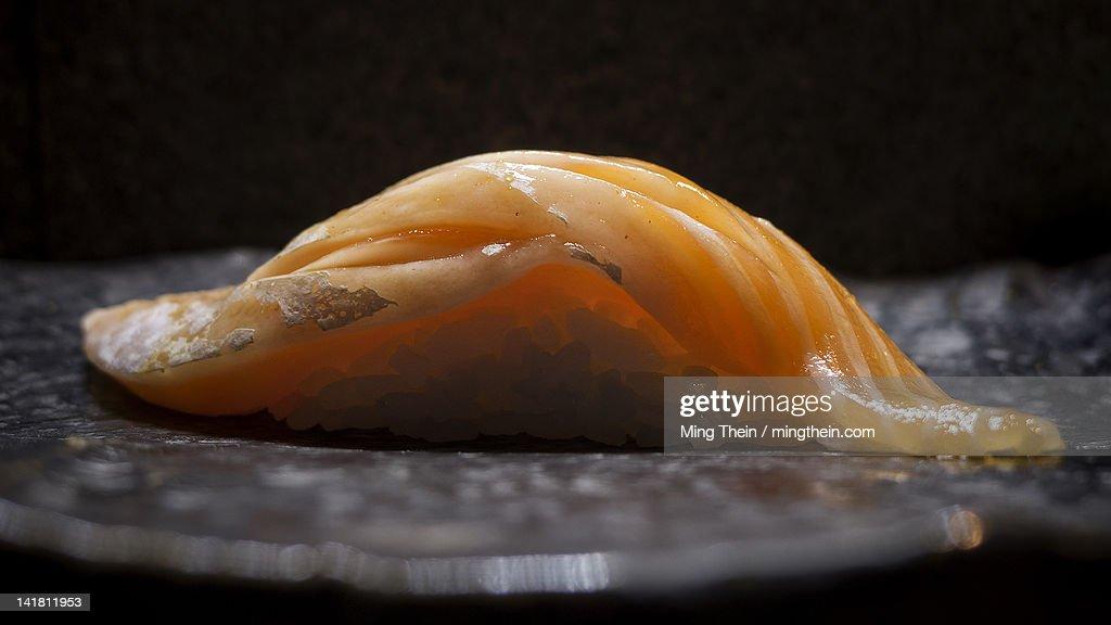 Japanese salmon sushi : Stock Photo