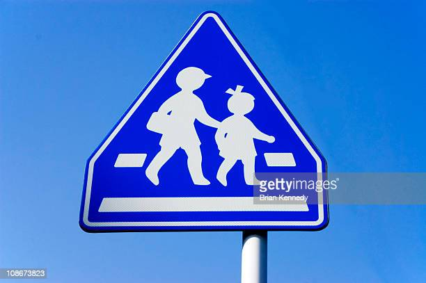 Japanese school crossing sign