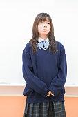 Japanese schoolgirl standing