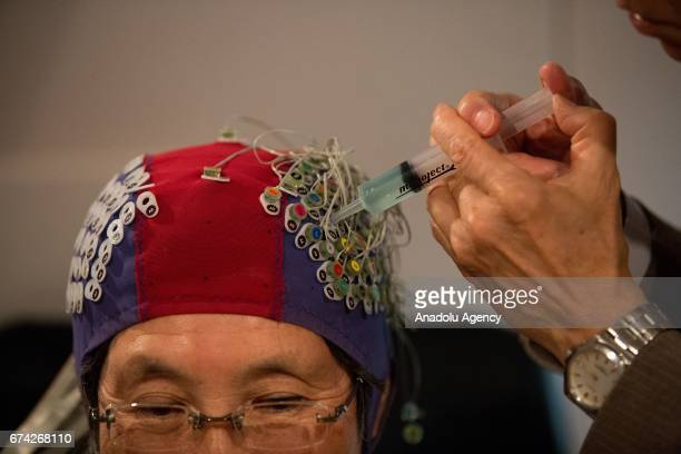 Japanese scientists demonstrate a device capable of reading human mind through brainwave detecting electrodes in Toyohashi University of Technology...