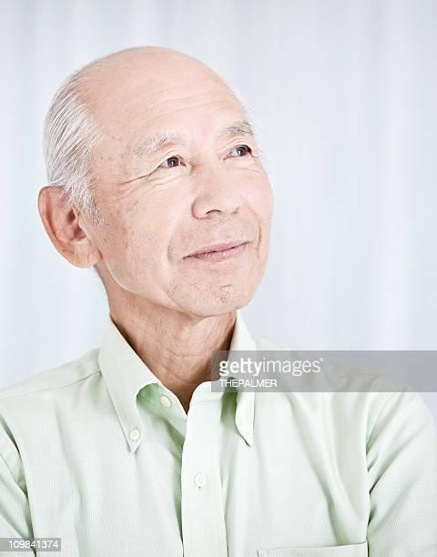 japanese senior man headshot