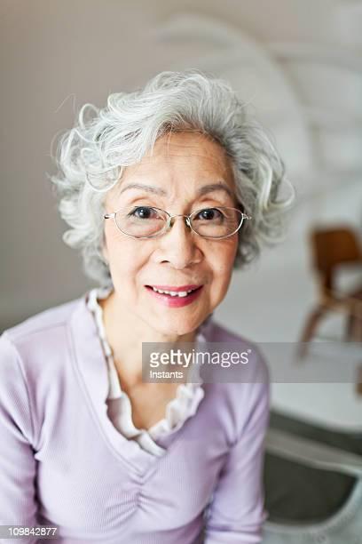 Japanische senior Frau