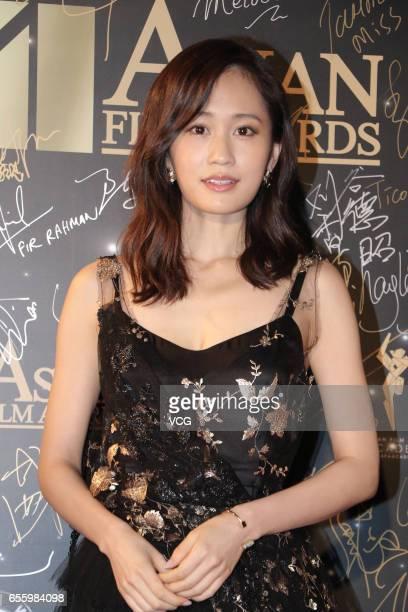 Japanese singer and actress Atsuko Maeda of Japanese girl group AKB48 arrives at the red carpet of the 11th Asian Film Awards at Hong Kong Cultural...