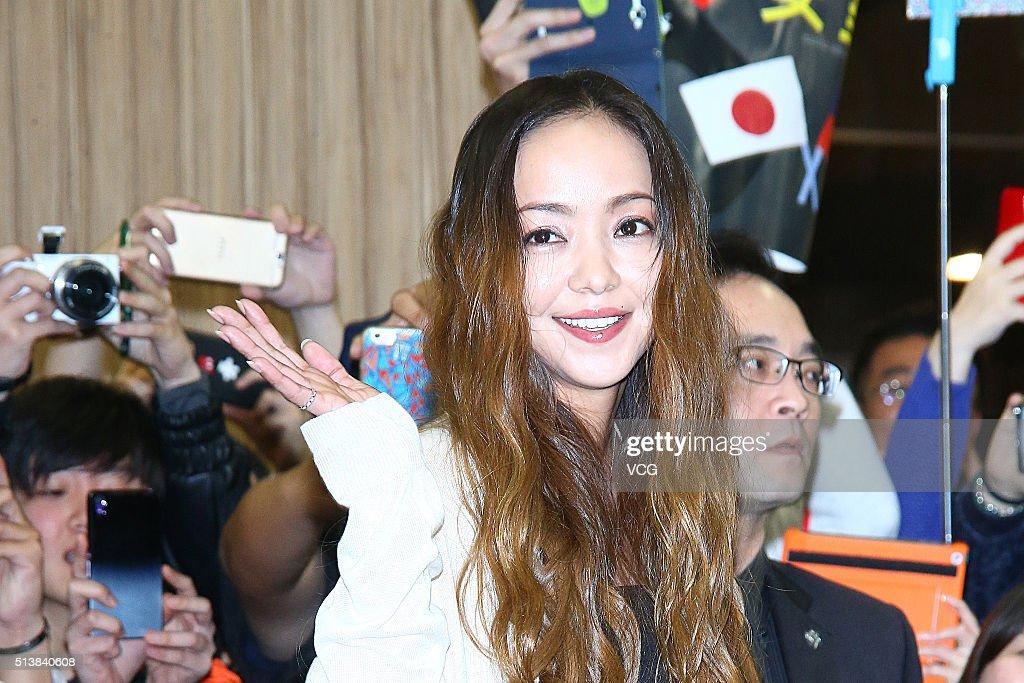 Namie Amuro Arrives In Taipei