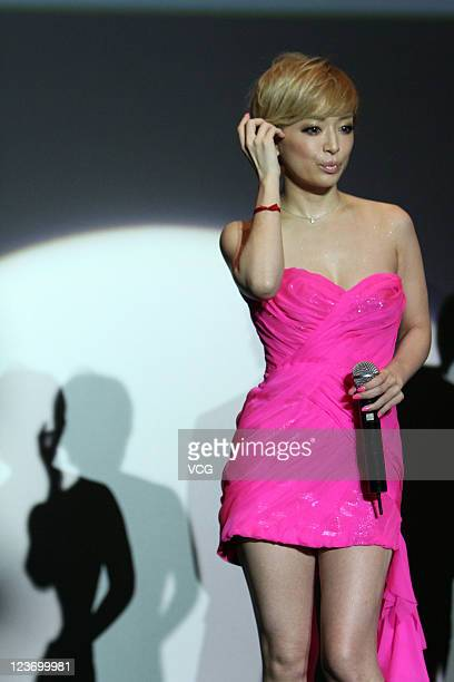 Japanese singer Ayumi Hamasaki promotes her 3D concert on September 3 2011 in Hong Kong China