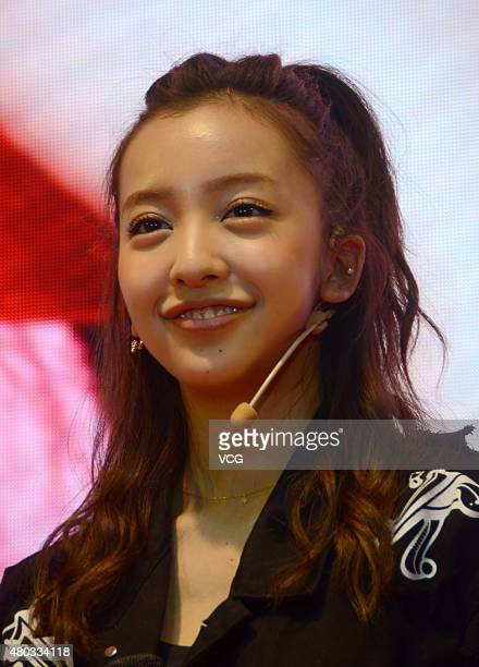 Japanese singer Itano Tomomi attends the 11th China International Cartoon Games Expo on July 10 2015 in Shanghai China