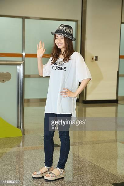 Japanese singer Mai Kuraki arrives on Tuesday July 12014 in TaipeiChina