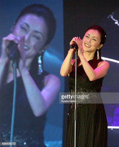 KONG Japanese singer Noriko Sakai performs at the Hong Kong Asian Pop Music Festival 2014 on March 28 2014