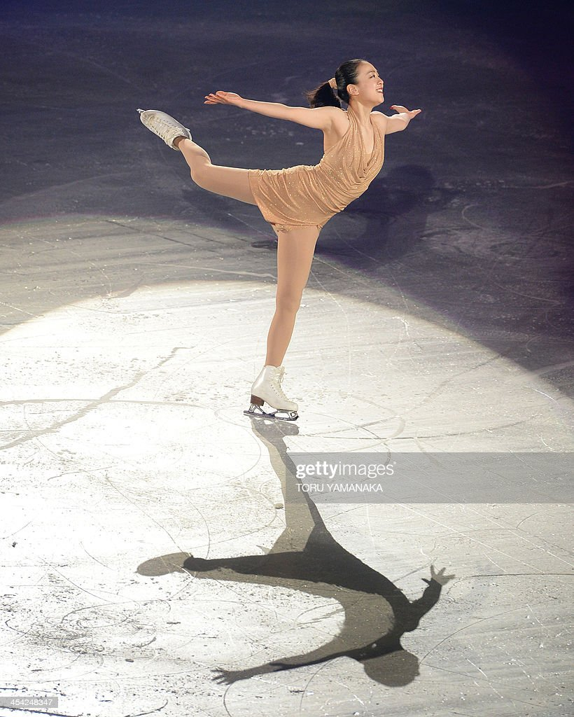 Japanese skater Mao Asada performs during the gala exhibition in the ISU figure skating Grand Prix Final in Fukuoka, western Japan, on December 8, 2013. AFP PHOTO/Toru YAMANAKA