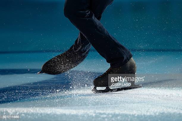 Japanese skater Shoma Uno performs during an exhibiton gala at the ISU Grand Prix of Figure Skating Final 2015 in Barcelona on December 13 2015 AFP...
